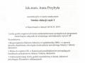 Anna Przybyla, okluzja