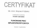 Wojciech Faferko, implantologia 1